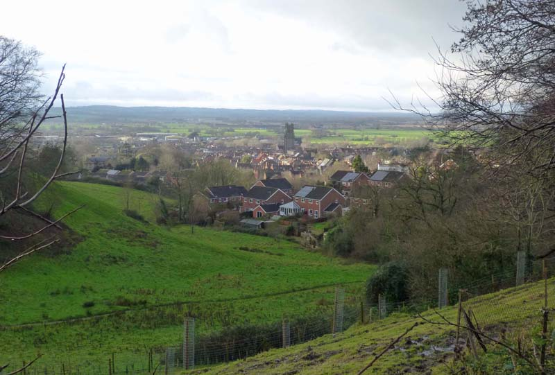 Part of the town of Glastonbury