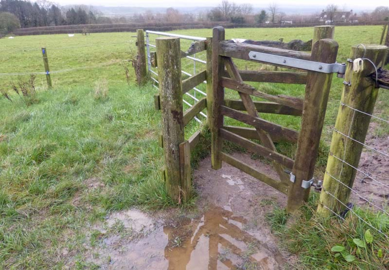 Kissing gates from now on - thank you Mendip District Council